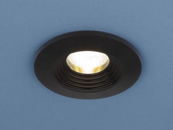 9903 LED / Светильник встраиваемый 3W COB BK черный