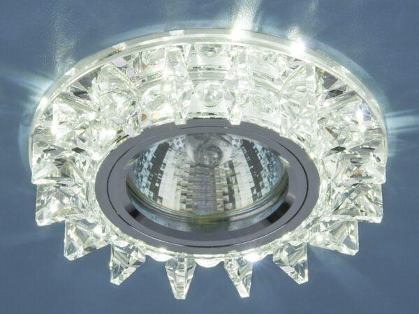 6037 MR16 SL / Светильник встраиваемый зеркальный/серебро
