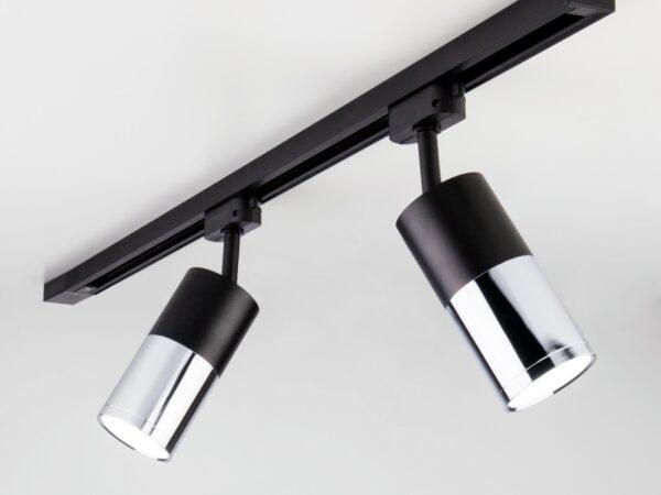 LTB27 / Светильник потолочный светодиодный Avantag Черный матовый/хром 6W 4200K