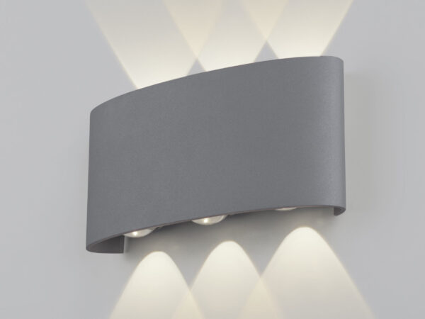 1551 TECHNO LED / Светильник садово-парковый со светодиодами TWINKY TRIO серый