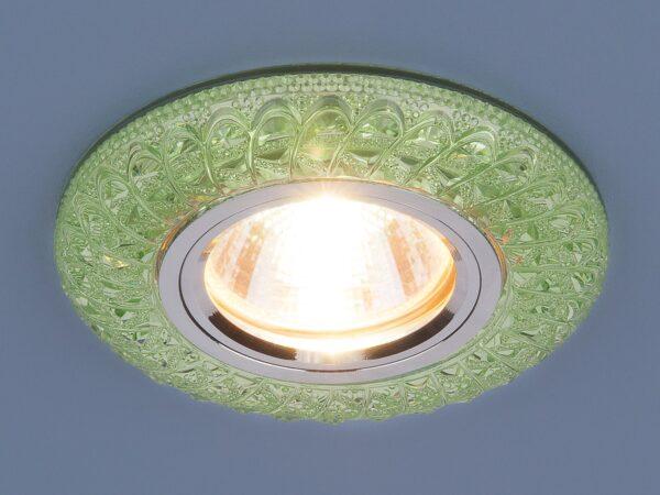 2180 MR16 / Светильник встраиваемый GR зеленый