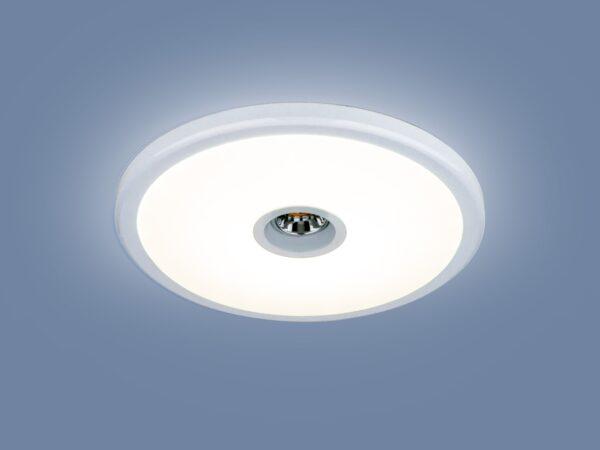 9912 LED / Светильник встраиваемый 6+4W WH белый