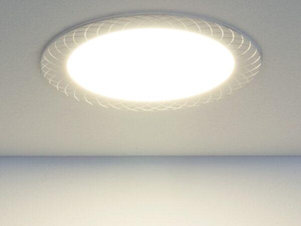 DLR005 12W 4200K / Светильник встраиваемый WH белый
