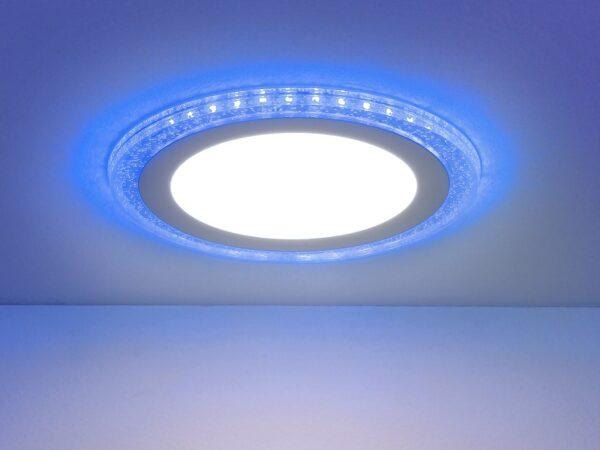 DLR024 10W 4200K / Светильник встраиваемый подсветка Blue DLR024 7+3W 4200K
