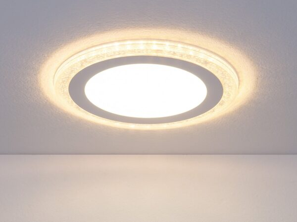 DLR024 18W 4200K / Светильник встраиваемый DLR024 12+6W 4200K