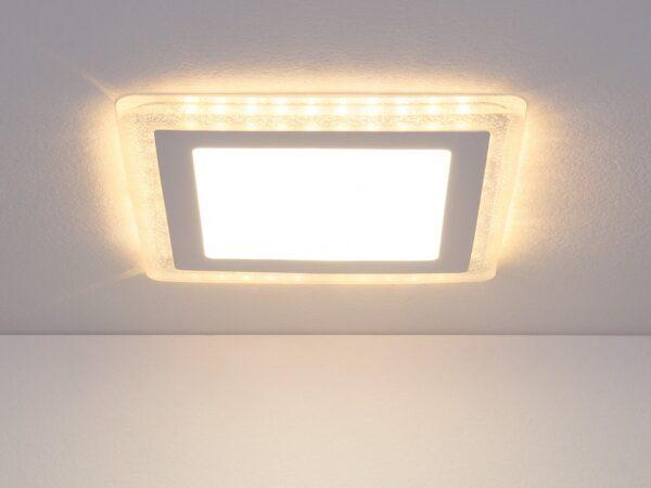 DLS024 18W 4200K / Светильник встраиваемый DLS024 12+6W 4200K