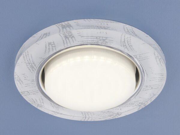 1062 GX53 / Светильник встраиваемый WH/SL белый/серебро
