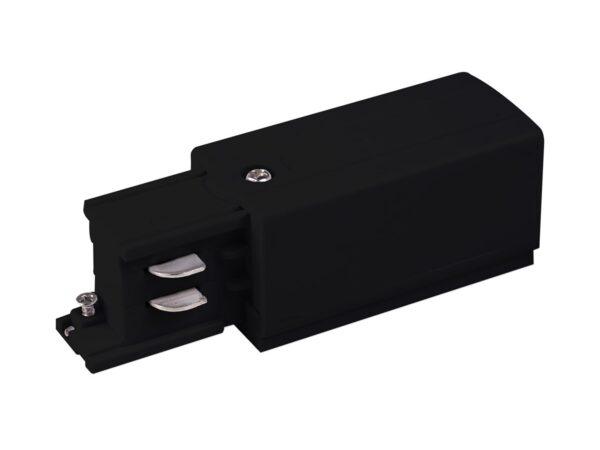 TRP-1-3-L-BK / Соединитель электрический Ввод питания левый для трехфазного шинопровода (черный) /