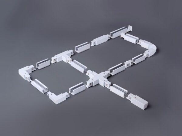 TRP-1-3-R-WH / Соединитель электрический Ввод питания правый для трехфазного шинопровода (белый) /