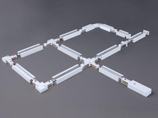 TRP-1-1-WH / Соединитель электрический Ввод питания и заглушка торцевая для однофазного шинопровода  (белый) /