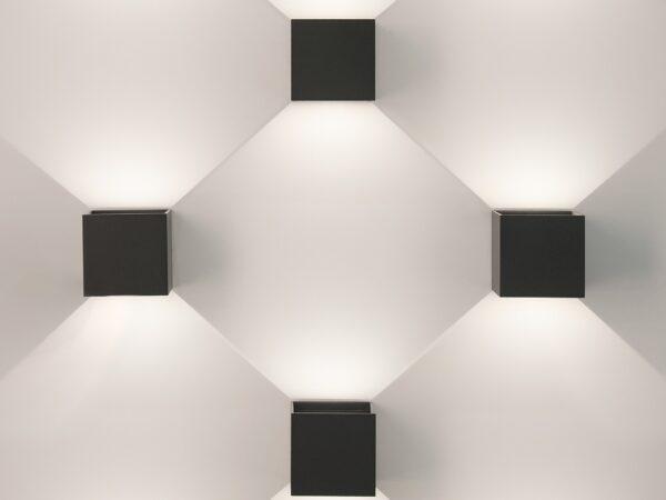 1548 TECHNO LED / Светильник садово-парковый со светодиодами WINNER черный