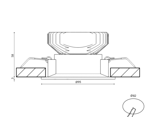 Корпус светильника COMBO-43