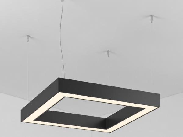 Светильник  SECTION SQUARE  (Сторона 520мм)х4 Профиль 35х35 LED 55W