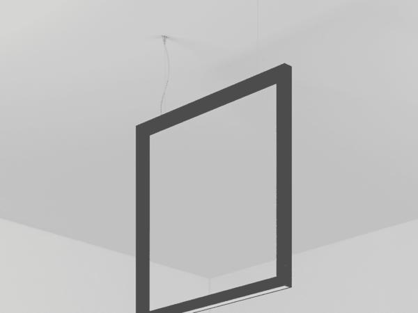 Светильник FRAME (подвесной) (HxL) 1200х400. Профиль 45х45. LED 12W