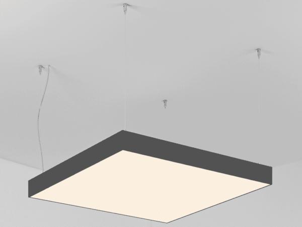 Светильник POLYGON SQUARE   h100  (Сторона 420)х4 LED 40W
