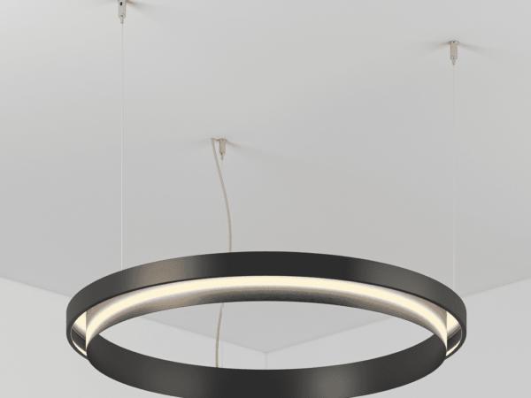 Светильник  NIKED CIRCLE подвесной D400 H45 b45 H70 LED  18W
