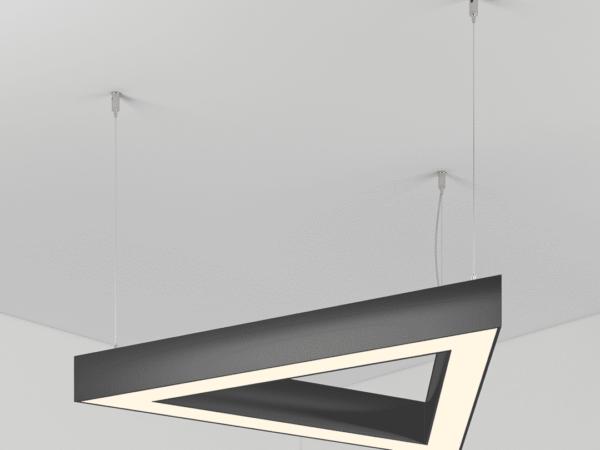 Светильник SECTOIN TRIANGLE 550х3 Профиль 35х35 LED 45W