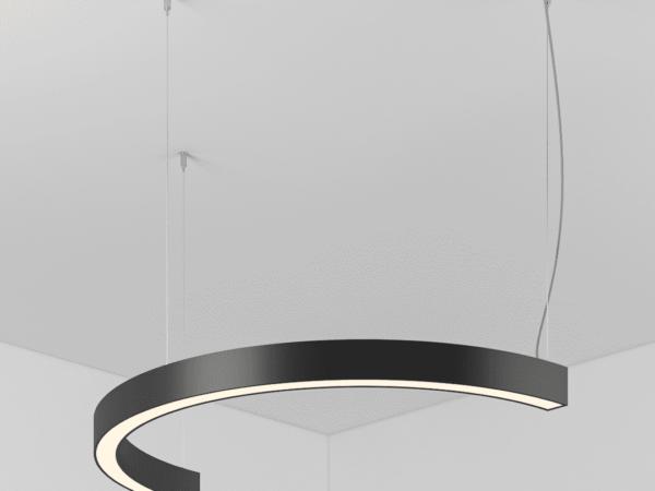 Светильник HEMICYCLE полукруг подвесной D600 H45 B45 LED 14W