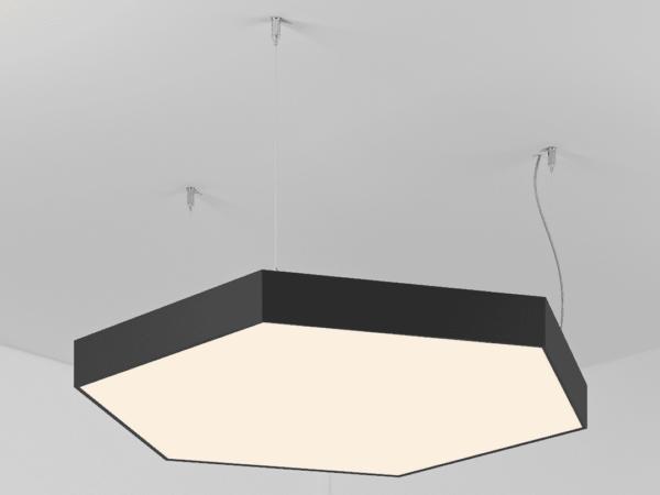 Светильник POLYGON HEXAGON   h100  (Сторона 320мм)х6 LED 57W