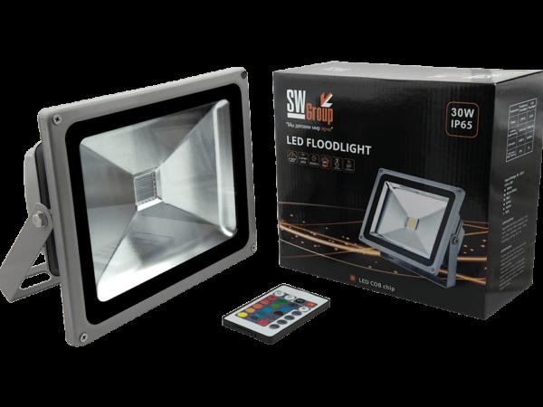 Прожектор светодиодный COB RGB