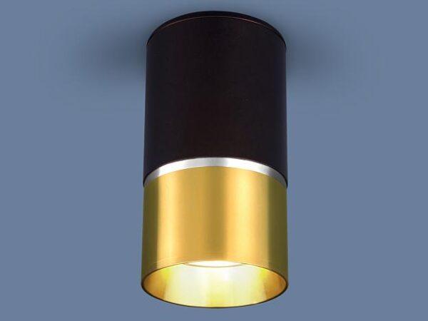 DLN106 GU10 / Светильник накладной черный/золото