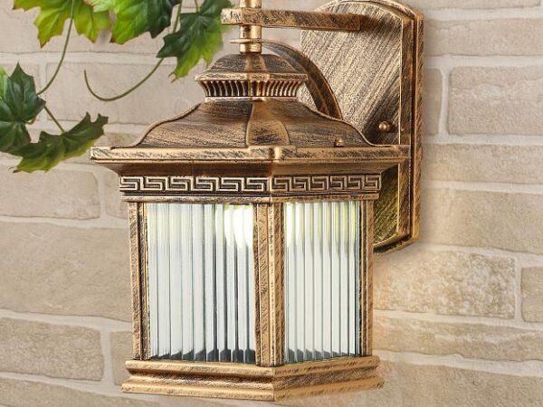 GL 1027D / Светильник садово-парковый Sargas черное золото