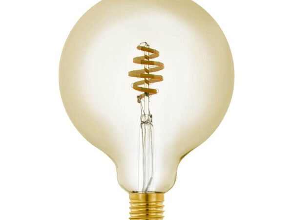 Лампа светодиодная филаментная диммируемая Eglo E27 5,5W 2200-6500K золотистая 12582
