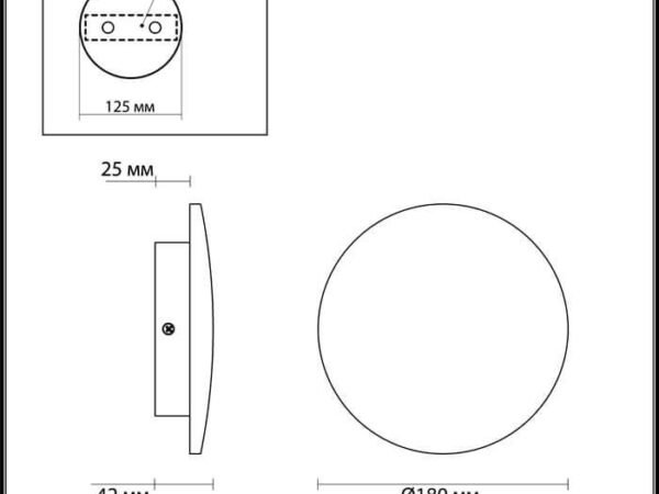 Настенный светодиодный светильник Odeon Light Eclissi 3871/12WL