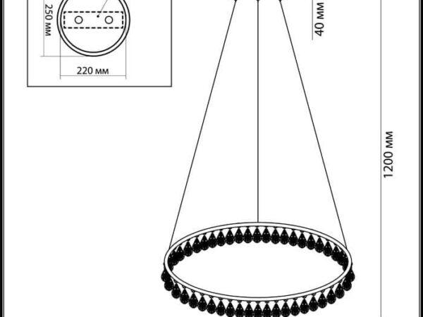 Подвесной светодиодный светильник Odeon Light Onix 4602/48L