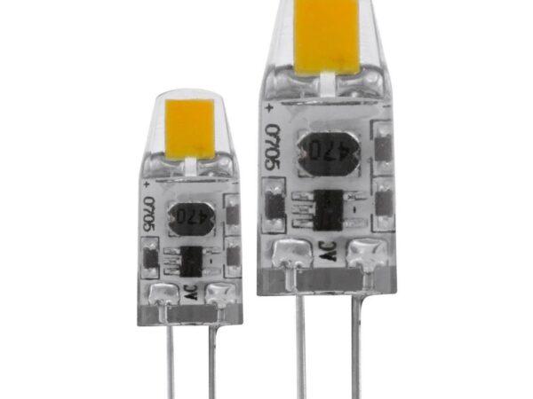 Лампа светодиодная диммируемая Eglo G4 1,2W 2700K прозрачная (2 шт.) 11551