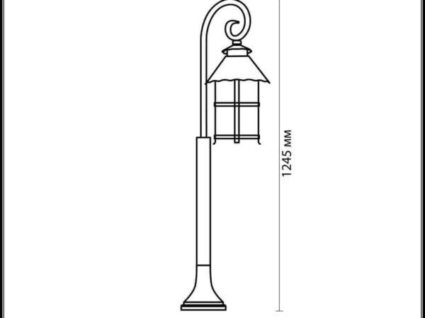 Уличный светильник Odeon Light Lumi 2314/1F