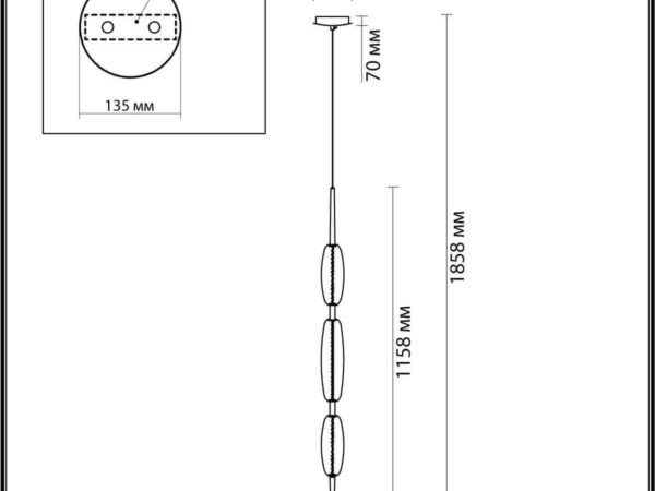 Подвесной светодиодный светильник Odeon Light Spindle 4793/28L