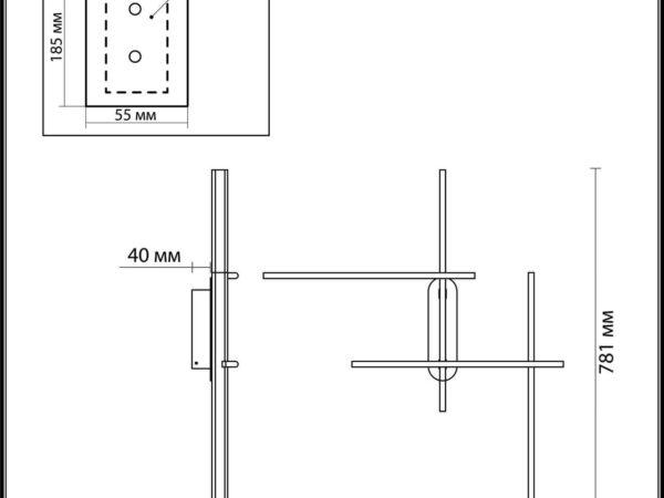 Настенный светодиодный светильник Odeon Light Rudy 3890/36WL