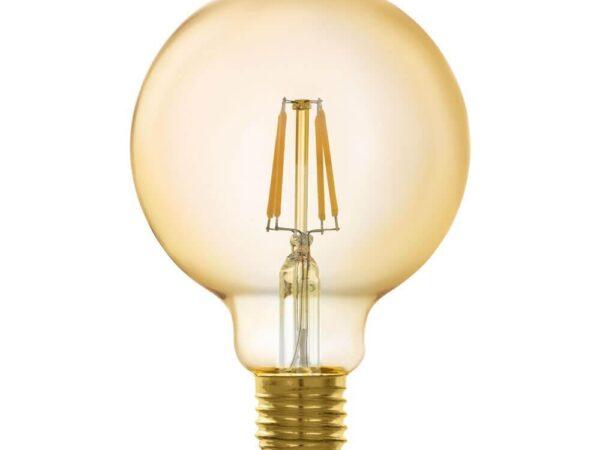 Лампа светодиодная филаментная диммируемая Eglo E27 5,5W 2200K золотистая 11866