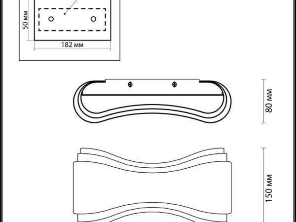 Настенный светодиодный светильник Odeon Light Farfi 3894/8WG