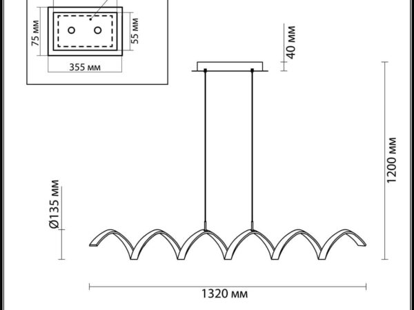Подвесной светодиодный светильник Odeon Light Spira 3832/50L
