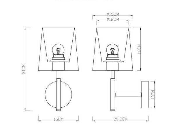 Бра Arte Lamp Rodos A2589AP-1SS