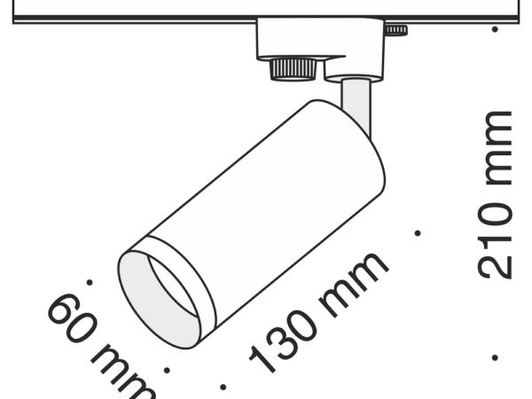 Трековый светильник Maytoni Track TR004-1-GU10-MG