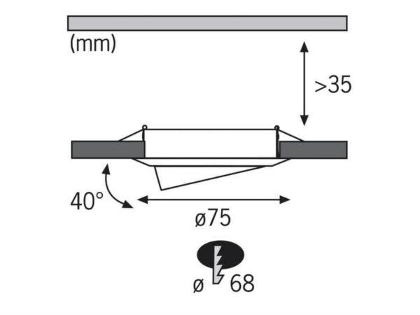 Встраиваемый светодиодный светильник Paulmann Basic EBL 3894
