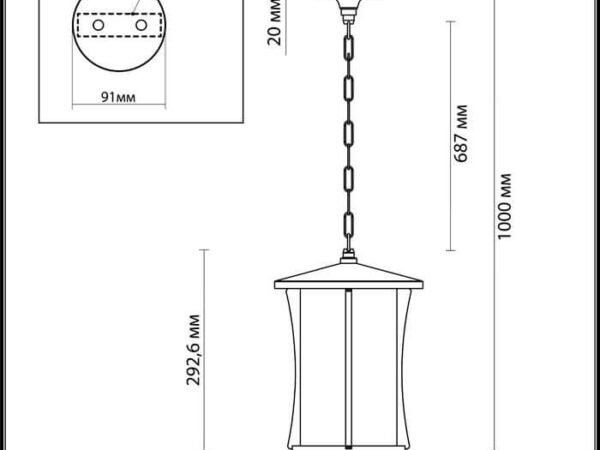 Уличный подвесной светильник Odeon Light Galen 4173/1