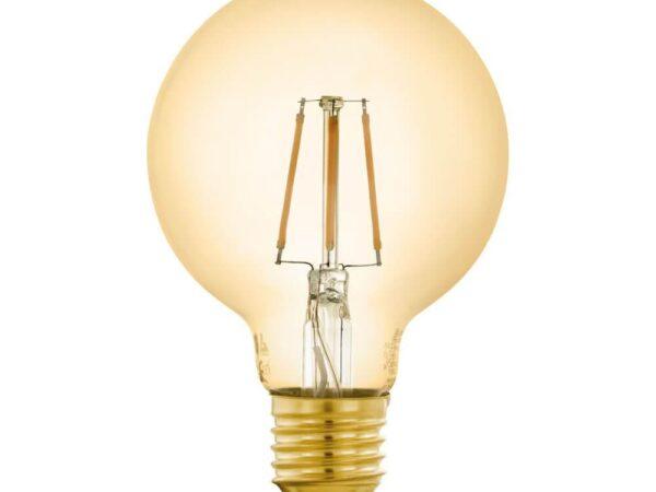 Лампа светодиодная филаментная диммируемая Eglo E27 5,5W 2200K золотистая 12572