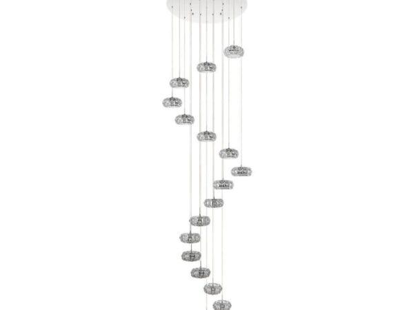 Каскадная светодиодная люстра Eglo Corliano 39546