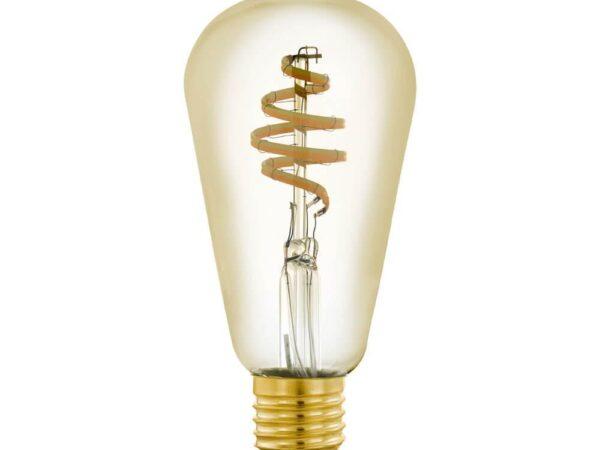 Лампа светодиодная филаментная диммируемая Eglo E27 5,5W 2200-6500K золотистая 12583
