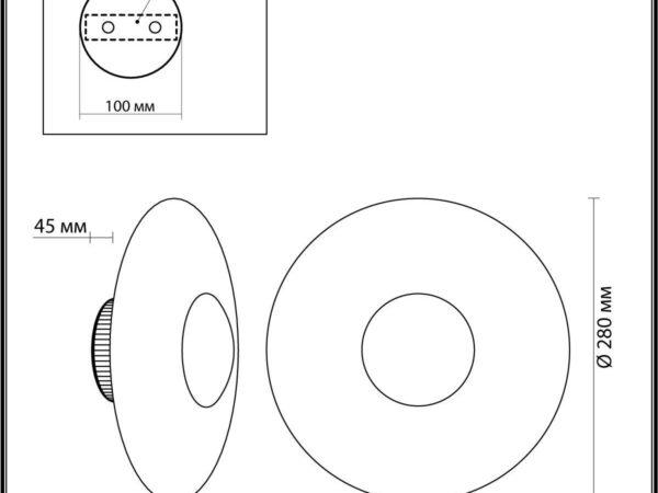 Настенный светодиодный светильник Odeon Light Adamas 4223/13WL
