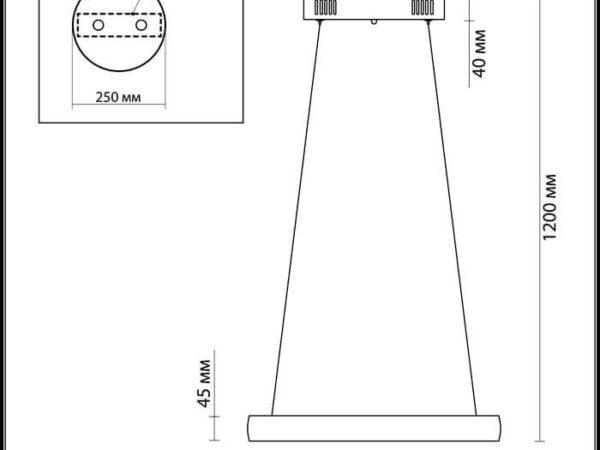 Подвесной светодиодный светильник Odeon Light Constance 4603/36L