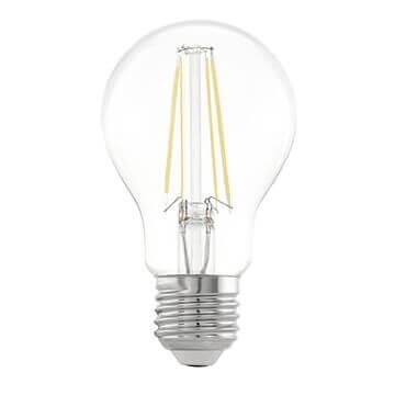 Лампа светодиодная филаментная Eglo E27 6,5W 2700К прозрачная 11534