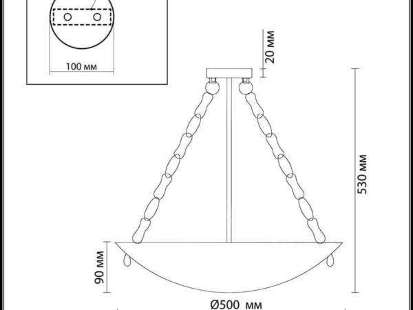 Подвесной светильник Odeon Light Velute 2094/5C