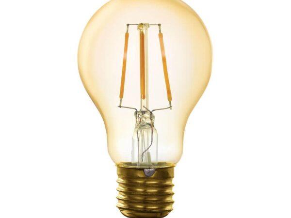 Лампа светодиодная филаментная диммируемая Eglo E27 5,5W 2200K золотистая 11864
