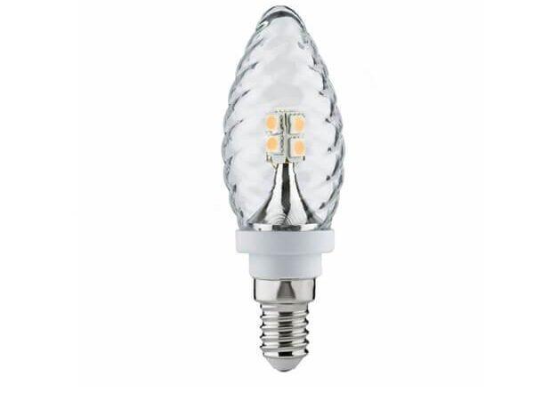 Лампа светодиодная Е14 2,5W 2700К свеча витая прозрачная теплый белый 28172