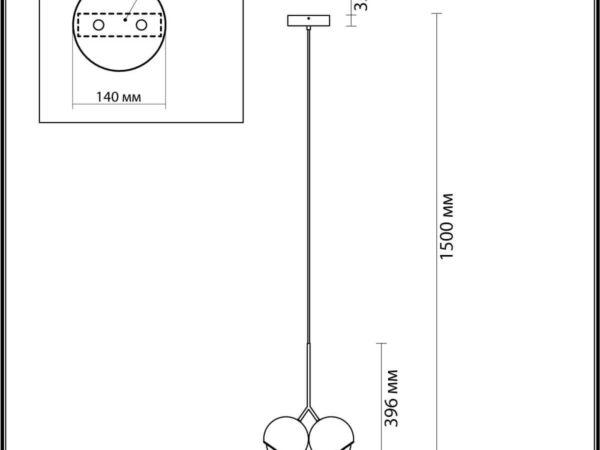 Подвесной светодиодный светильник Odeon Light Mia 4228/12LA